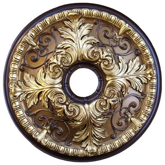 Hand painted decorative ceiling medallions, custom ceiling medallions finishes | Fine Art Deco, Inc. An Artistic Décor Company