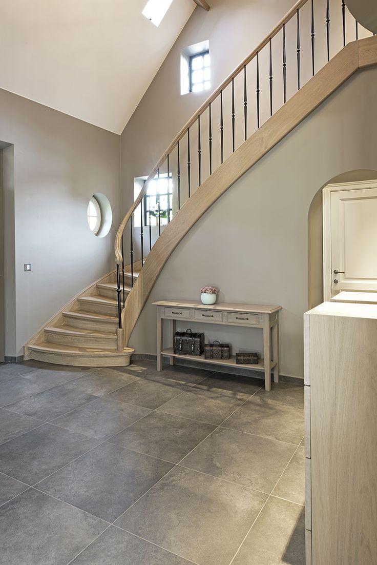 Houten kwartdraaitrap met wrongstuk smeedijzer google zoeken interieur pinterest staircases - Deco houten trap ...
