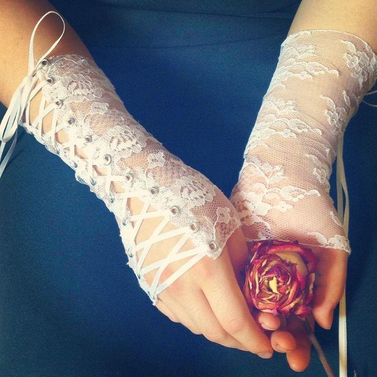 Lace wrist corset cuffs sewing pattern