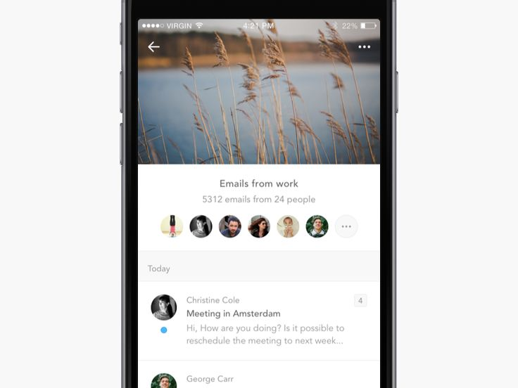 Email app concept by Naim Chayata for Ristretto