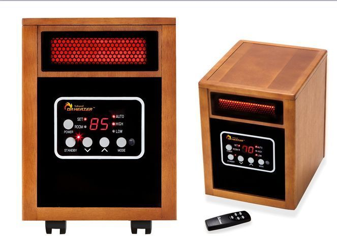 Portable Space Heater, 1500-Watt With Remote Warmth Living Room Furniture Sale