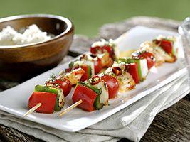 Brochetas de sepia con pimientos y tomatitos ¡Mmm!