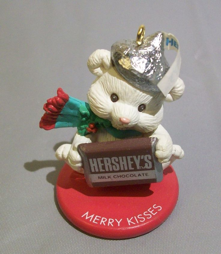 Hershey's Merry Kisses Christmas Ornament 1993 Hershey Chocolate Bar Polar Bear