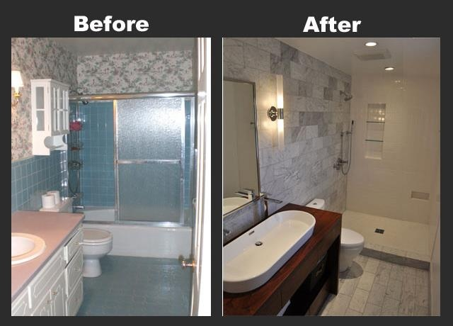 Contemporary Art Sites Before and after Bathroom by Cross Renovation Garden City Michigan http crossrenovation