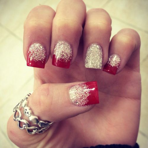 Fake Nails Designs Glittery