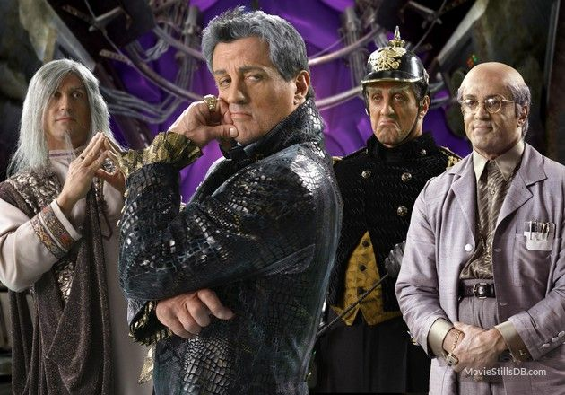 Spy Kids 3 publicity still of Sylvester Stallone