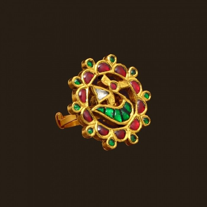 Gold Antique Ring (VBJ-OW-GR-14) | Vummidi Bangaru Jewellers