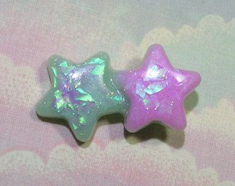 Holographic Starfish Hair Clip Mermaid Hair by StarlightSparkles
