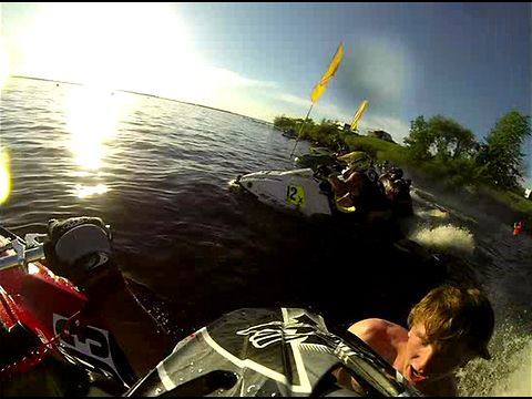 Watch As A Manu0027s Shorts Get Sucked Up By A Jet Ski While He Holds During