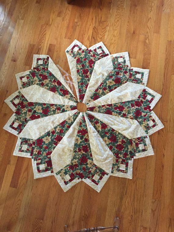 Large Christmas tree skirt Christmas tree skirt by CharsStars                                                                                                                                                                                 More