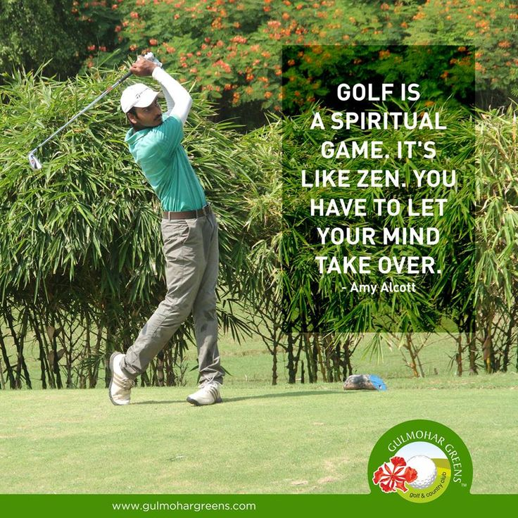 The game of #Golf connects you with spirituality. Let your mind be calm and explore the serenity of this game.