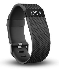 Fitbit Charge HR Wireless Activity Wristband, Black, Large…