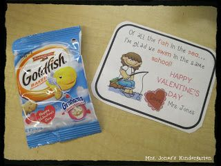Valentine gift from teacher --Download the tag on blog post!