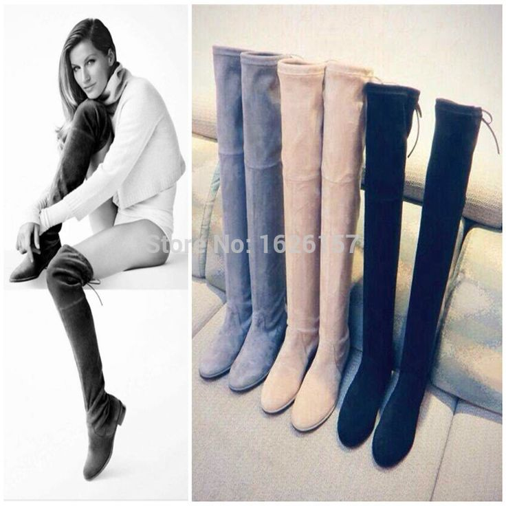 Lowland suede over the knee boots flat suede thigh high boots for women green boots long stretch tall boot(China (Mainland))