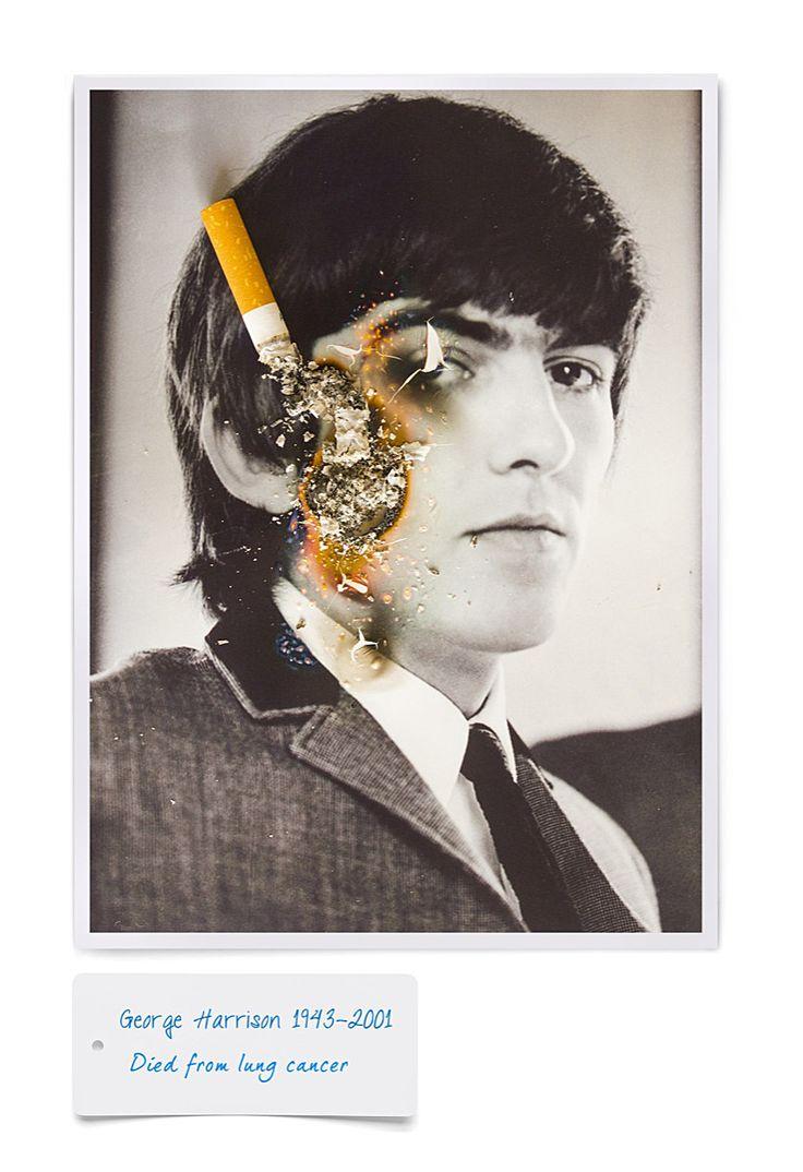 George harrison cigarette | Sel-ad-print | Pinterest  George harrison...