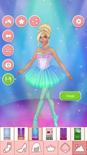 Jogos de vestir bailarinas: miniatura da captura de tela