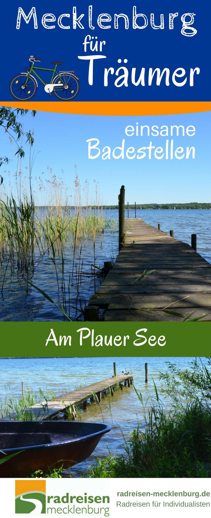 Im Land der über 2000 Seen gibt es unfassbar viele Badestellen und Strände. Am Plauer See sind es einige. Man erreicht sie am besten im Rahmen einer #Radtour rund um den See. Überall kann man anhalten und baden. Gerade auf dem Abschnitt zwischen Plau und Bad Stuer findet sich manches idyllische Plätzchen. #Reisen #Radreisen # Mecklenburg