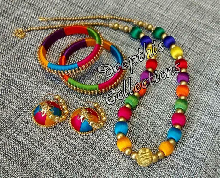 Craft Jewelry Handmade Ideas Thread Bangles Jewellery Silk Hobbies Ornaments Crocheting