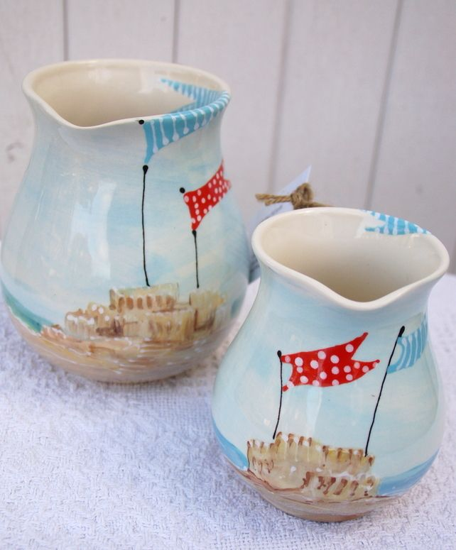 sea side 1 litre jug  -If you dream of sand dunes £26.00