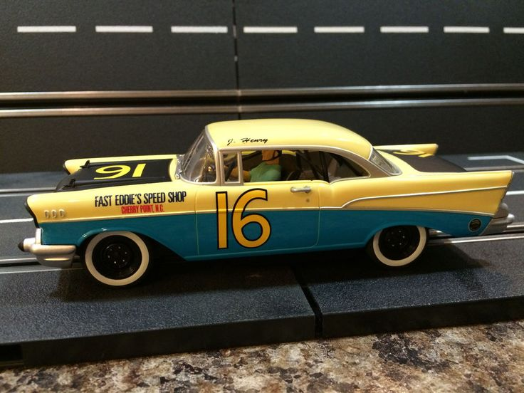 1/32 Carrera Chevrolet Chevy 1957 Bel-Air #16 NASCAR ANALOG #Carrera