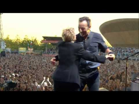 Bruce Springsteen with Adele (his mother) - Dancing In The Dark (Pro-Shot - Hard Rock Calling 2013) - YouTube