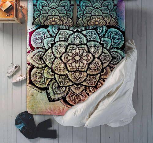 Mandala-Bettwäsche-Set Mandala Bettwäsche Mandala Bettlaken