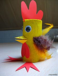 Kurczak Z Rolki Po Papierze Toaletowym Rolki Easter Crafts