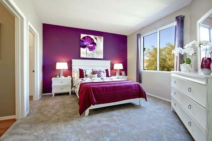 1001 Astuces Quel Mur Peindre En Fonce Pour Agrandir Une Piece Decor Chambre A Coucher Chambre A Coucher Peinture Deco Chambre