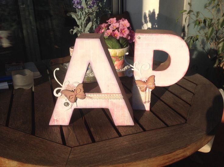 Letras decorativas Scrap