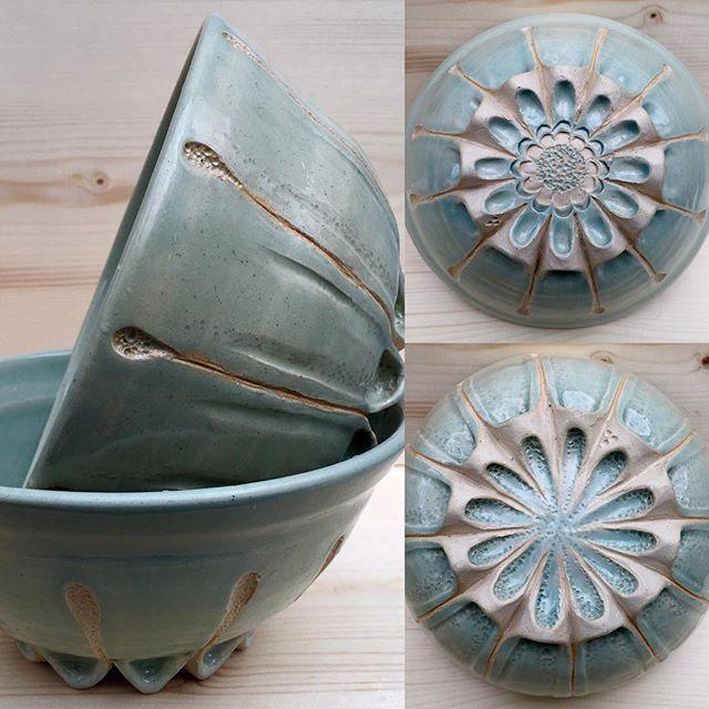 Carved. #pottery #bowls #handmade #tableware #dinnerware #servingbowl #ceramic #celedon #glaze #carving #clay #ceramica #ceramique #keramik