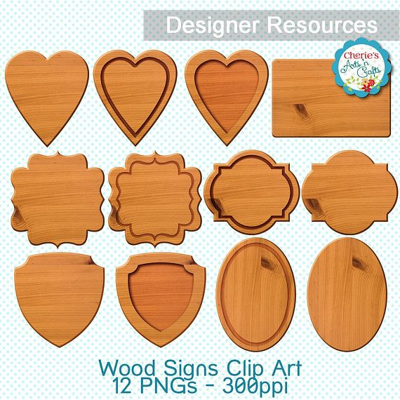 Wood Signs Clip Art  Wood Plaques Clip Art  Carved Wood