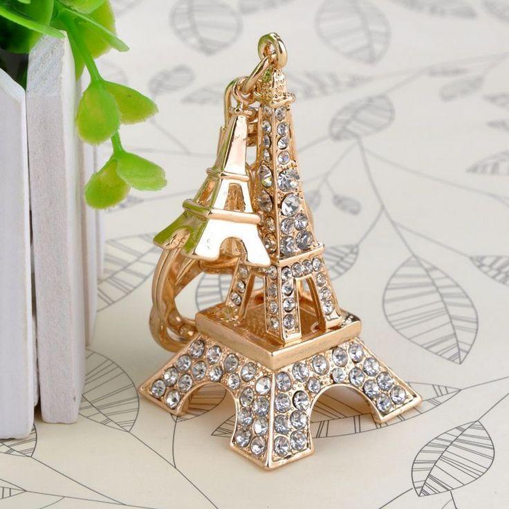 Shiny Eiffel Tower Paris Keychain //Price: $5.20 & FREE Shipping //     #hashtag2