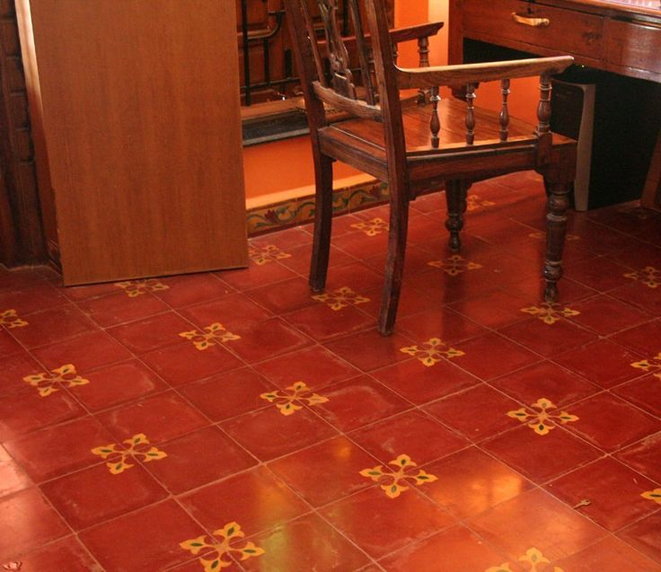 How lovely and classic are these Athangudi Red oxide tiles with elegant floral patterns