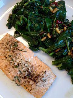 San's quick and yummies: Zalm met spinazie en lamsoor