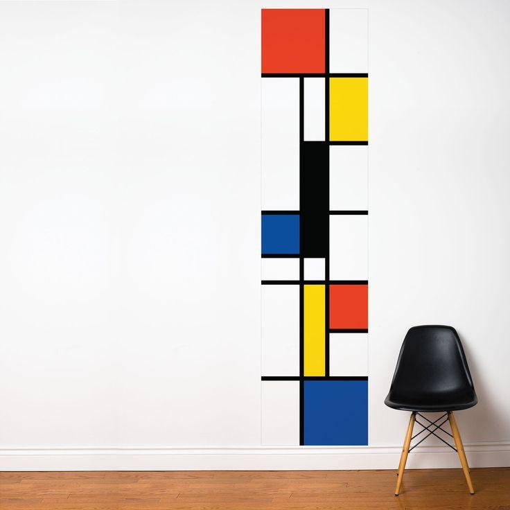 Pop Mondrian wall strip