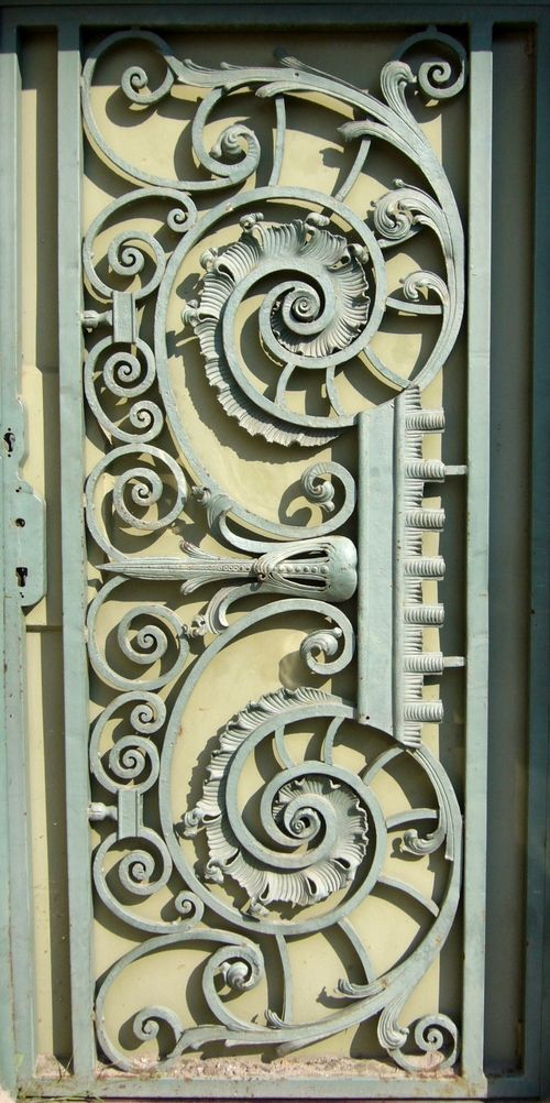 Tiringer-Wrought Iron Gate (Gate Wrought iron, Francis Tiringer), Kecskemet, Hungary.