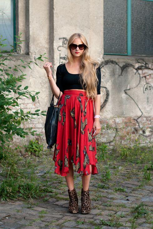 pretty printed skirt