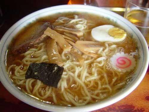 Японский суп рис с лососем