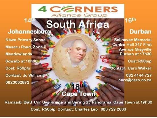 Live presentations in Johannesburg, Durban and Cape Town. http://apsense.cc/c3f603