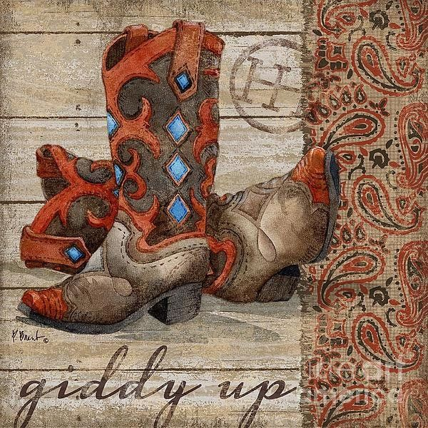 Wild West Boots Iii Print By Paul Brent