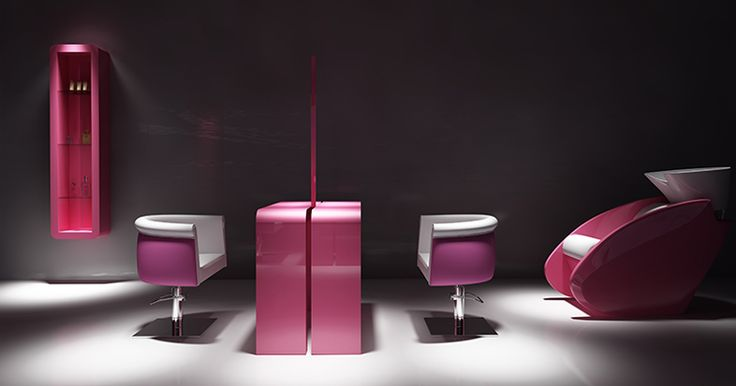 Salon collection Reflection by Ayala salon furniture. Hairdresser salon idea in contemporary style. #Salonideas
