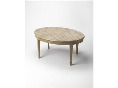 Timeless In Its Allure, This Elegant Cocktail Table Features An Oval Topu2026