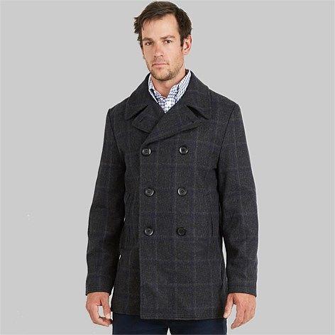 Swanndri Men's Croydon Merino Wool Pea Coat