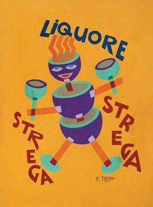 Depero, pubblictà Liquore Strega. Anni 30-40.