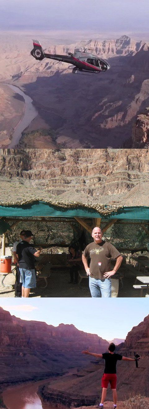 Try a Grand Canyon helicopter tour! Go here for availability and prices: http://www.grandcanyonhelicopters.org/las-vegas/