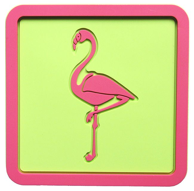 Pink Flamingo Coasters! New faves!