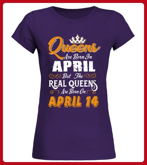 Real Queens are born on April 14 - Gamer shirts (*Partner-Link)