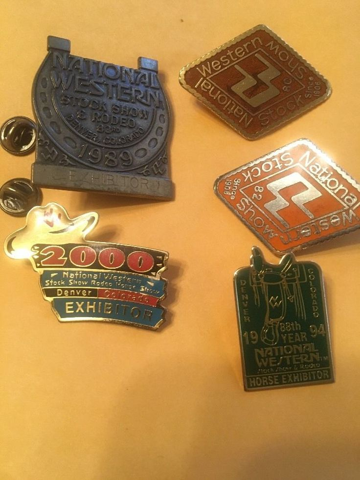 National Western Stock Show Pins DENVER stock show & rodeo C50