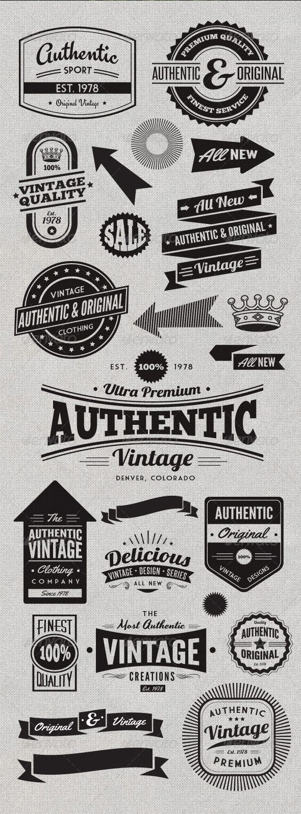Vintage Style Badges and Logos - An Addictive Pinner