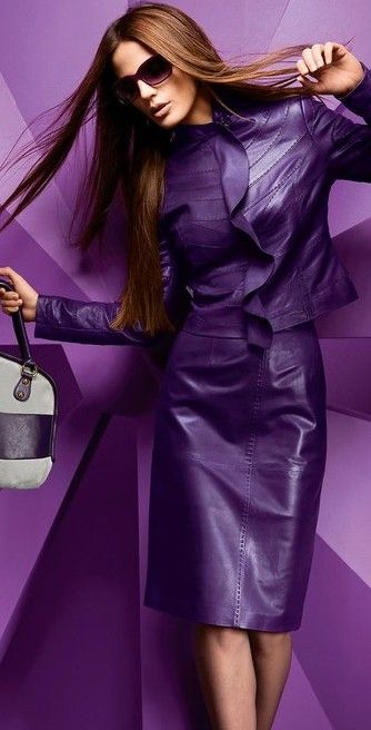 purple leather suit ♥✤ | Keep the Glamour | BeStayBeautiful